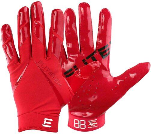 Men's Football Gloves - EliteTek RG-14 Super Tight Fitting-min