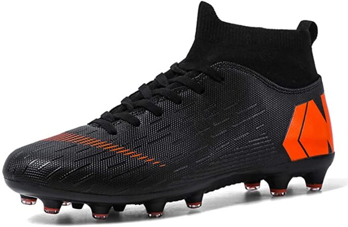 LIAOCX Men's Football Boots Cleats High-top Sock Ankle Care Performance Soccer Shoes